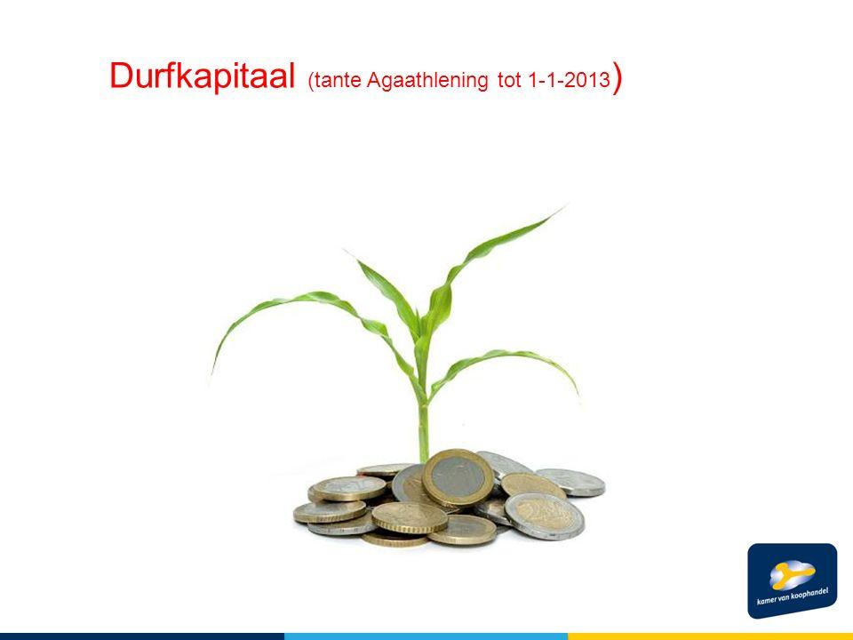 Durfkapitaal (tante Agaathlening tot 1-1-2013 )
