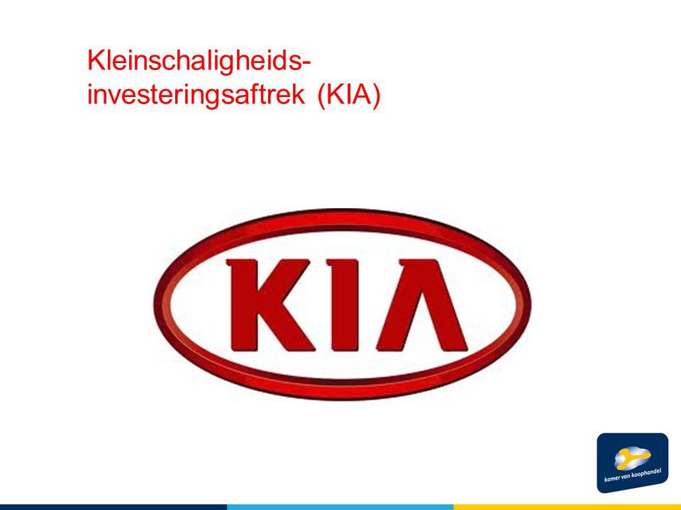Kleinschaligheids- investeringsaftrek (KIA)