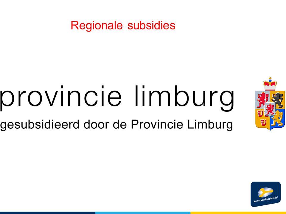 Regionale subsidies