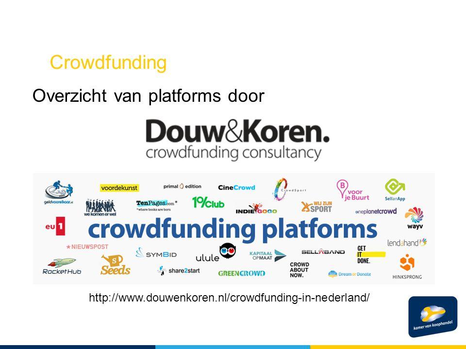 Crowdfunding Overzicht van platforms door http://www.douwenkoren.nl/crowdfunding-in-nederland/