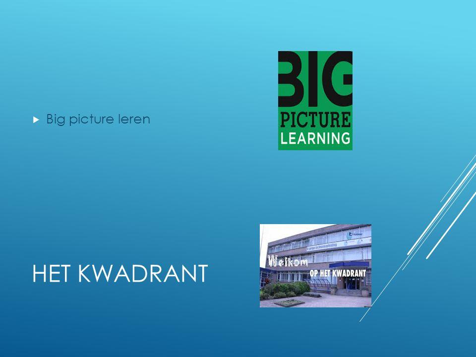 HET KWADRANT  Big picture leren