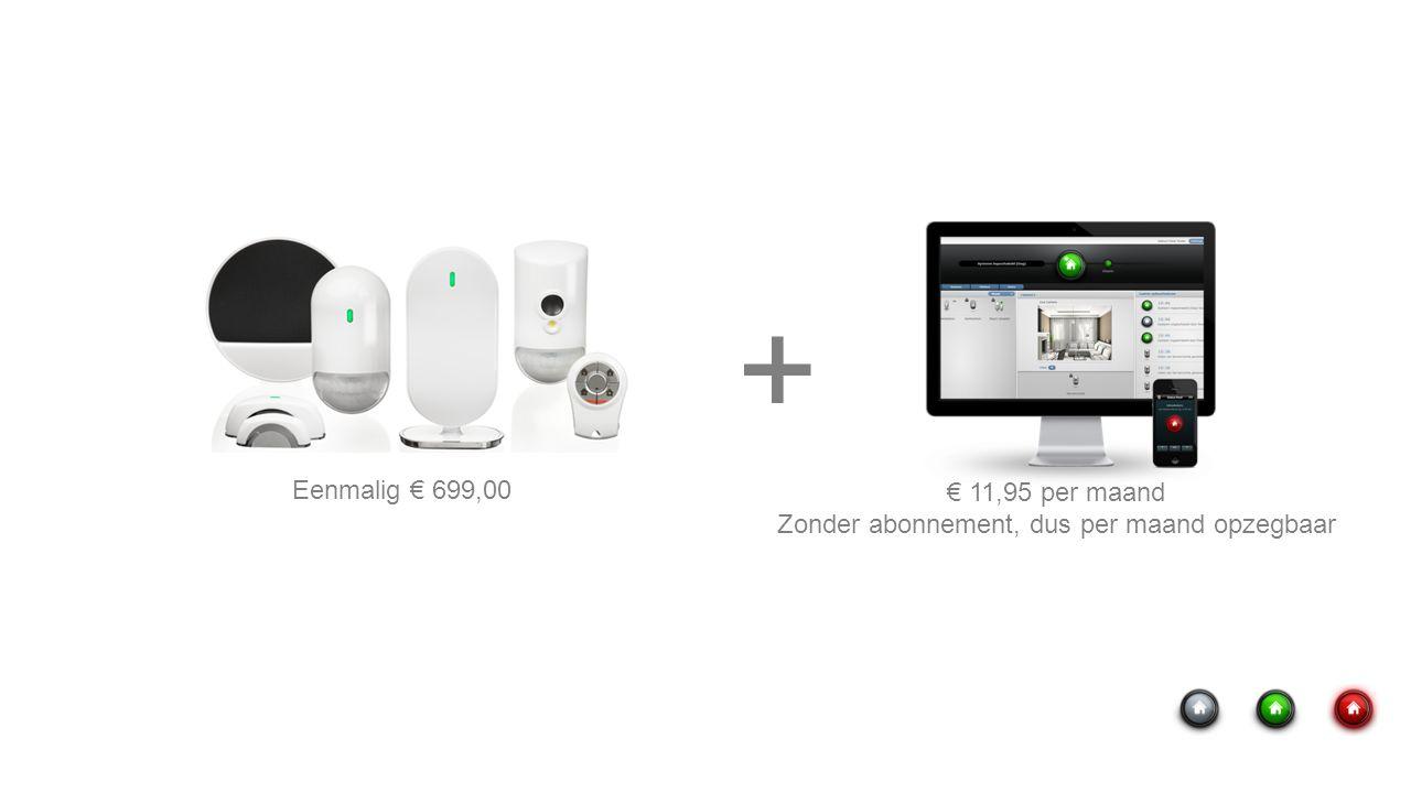 Eenmalig € 699,00 € 11,95 per maand Zonder abonnement, dus per maand opzegbaar +
