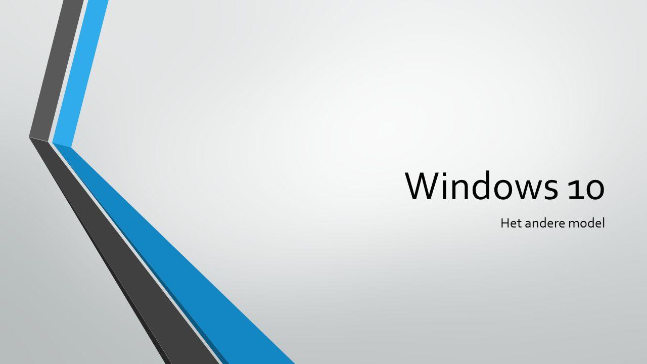 Windows 10 Het andere model