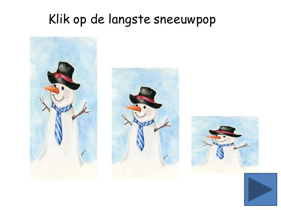 Klik op de sneeuwpop die bijna omvalt