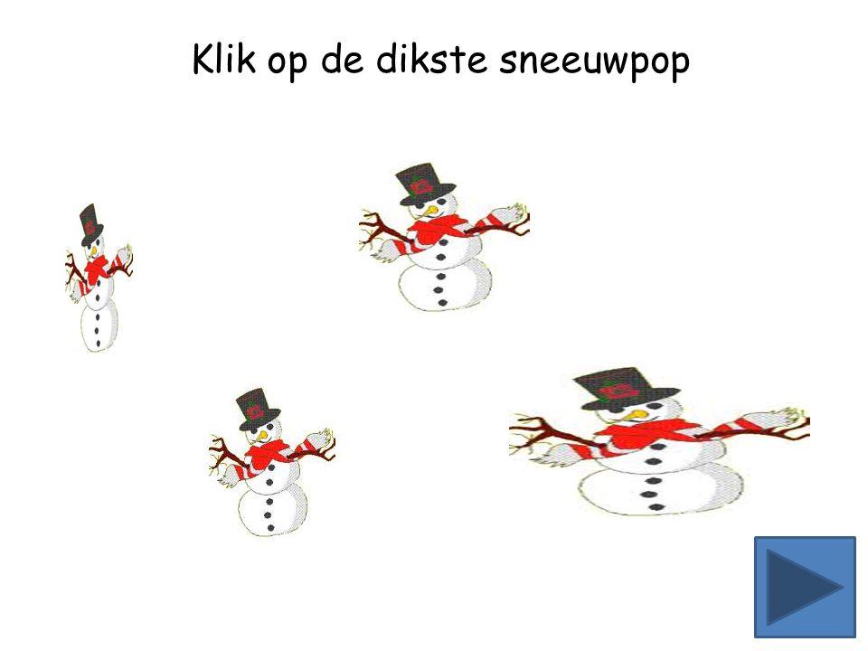 Klik op de kleinste sneeuwpop