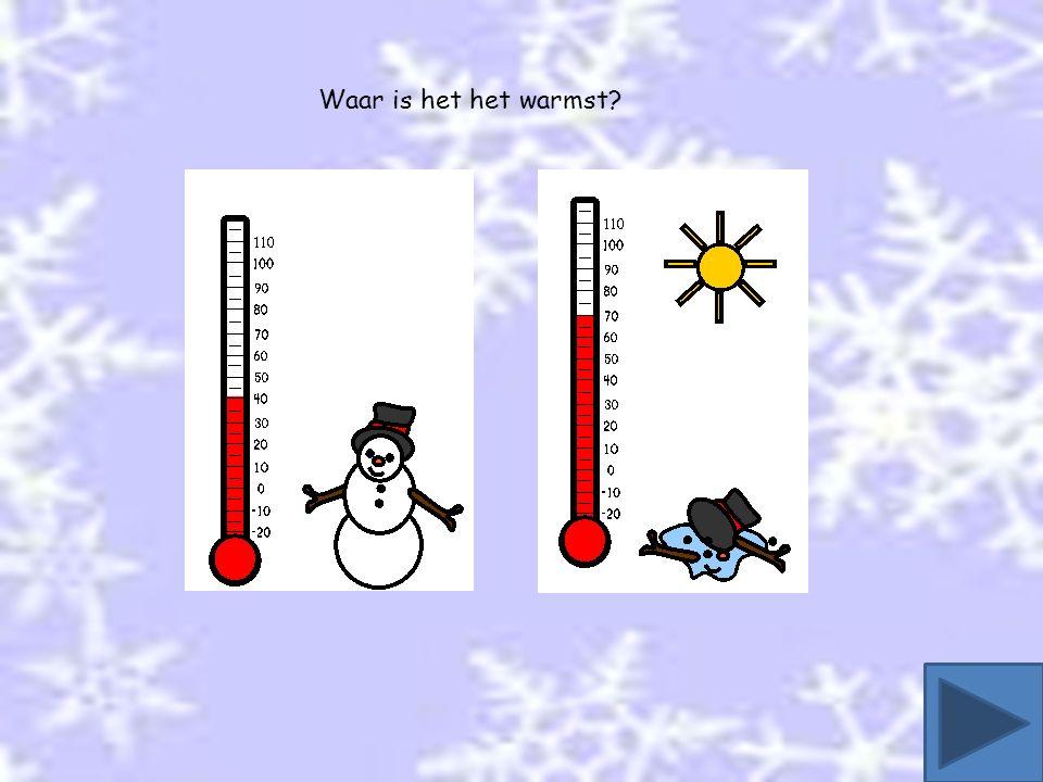 Waar is het het warmst?
