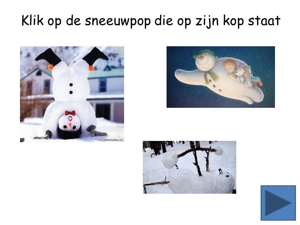 Klik op de minste sneeuwpoppen