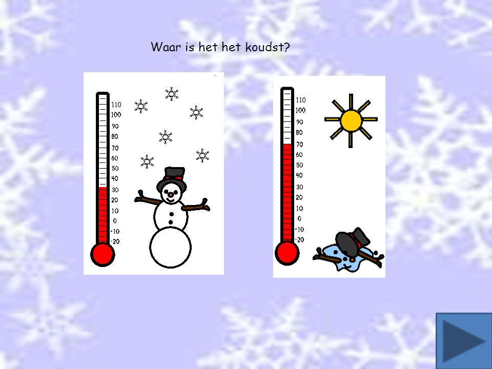 Waar is het het koudst?