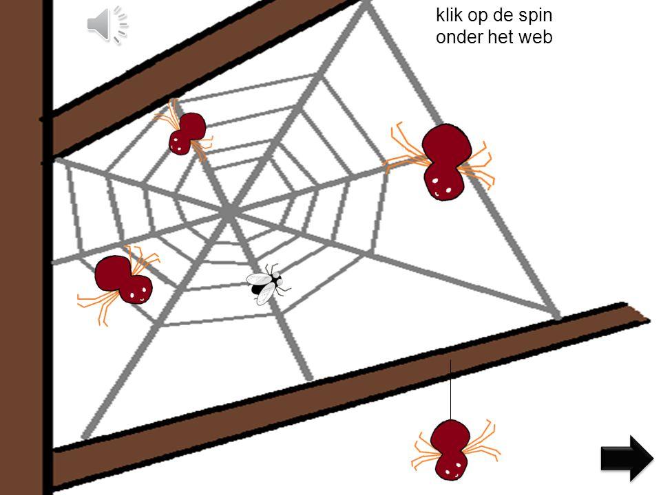 klik op de spin naast het web