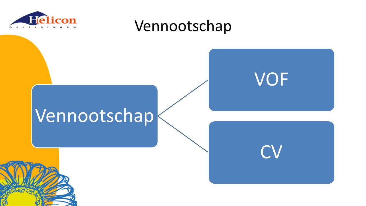 Vennootschap VOFCV