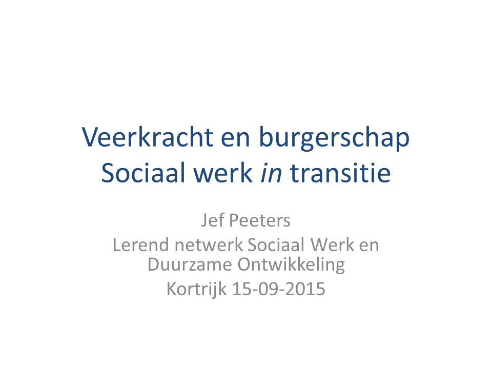 Veerkracht en burgerschap Sociaal werk in transitie Jef Peeters Lerend netwerk Sociaal Werk en Duurzame Ontwikkeling Kortrijk 15-09-2015