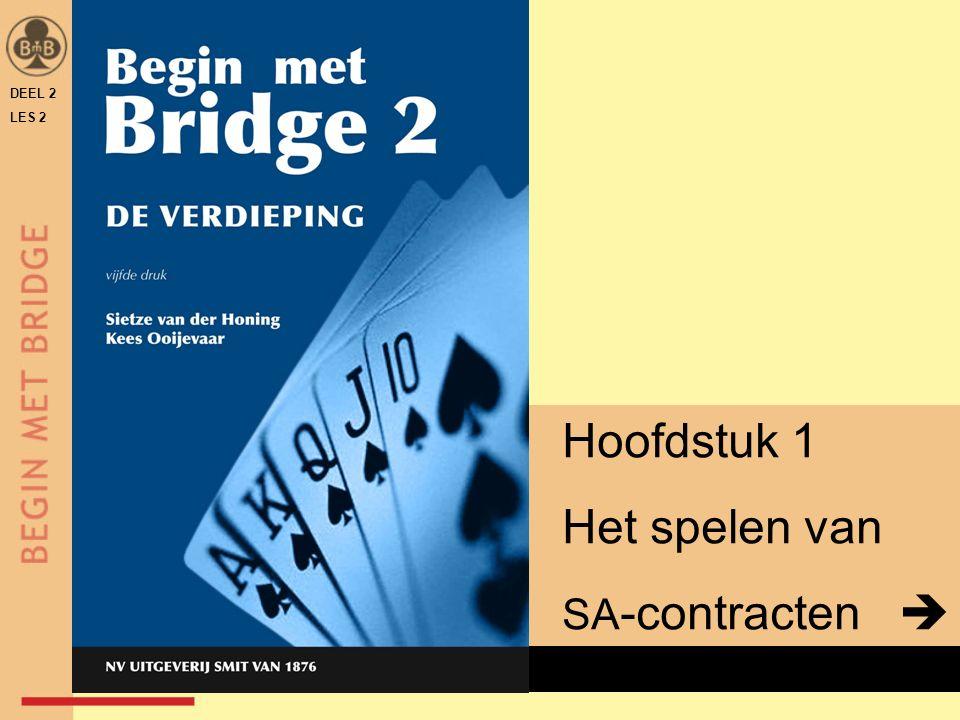 DEEL 2 LES 2 x Hoofdstuk 1 Het spelen van SA -contracten 