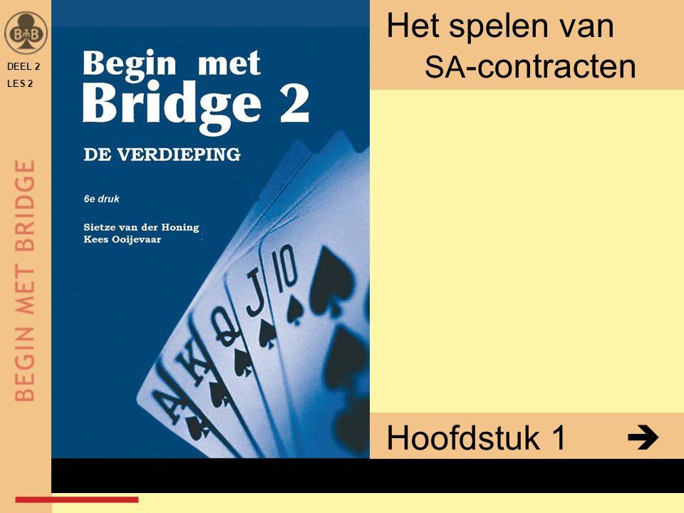 DEEL 2 LES 2 Hoofdstuk 1  Het spelen van SA -contracten x