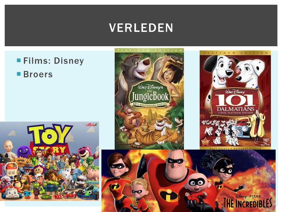  Films: Disney  Broers VERLEDEN