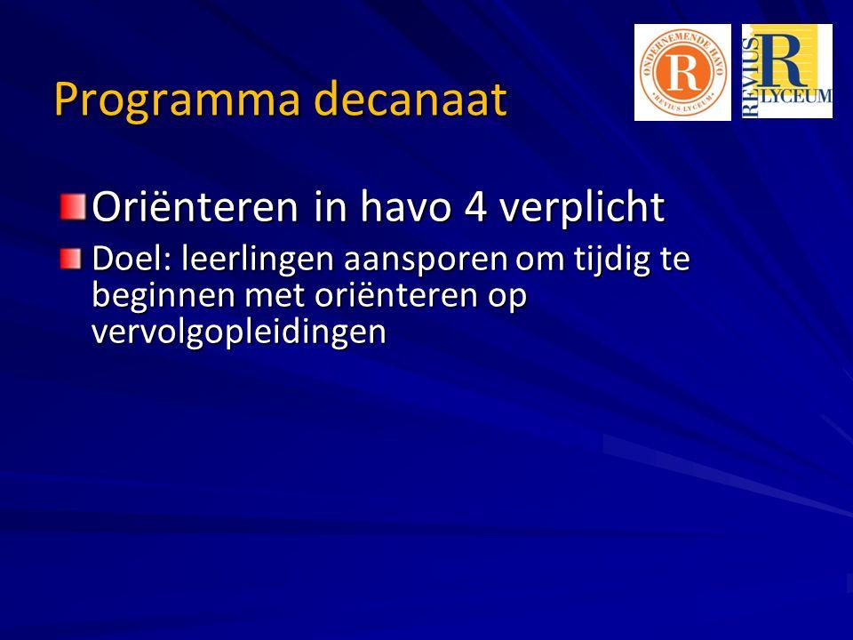 Belangrijke websites http://reviusdoornvmbo.dedecaan.net/ http://www.studiekeuze123.nl/