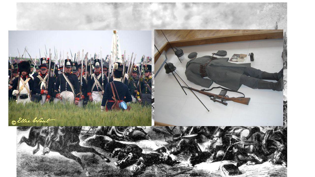 Oorlogsvoering in de 18 e /19 e eeuw Belangrijke oorlogen : -Amerikaanse onafhankelijkheidsoorlog (1775-1783) -Coalitie oorlogen (1792-1802) -Napoleon