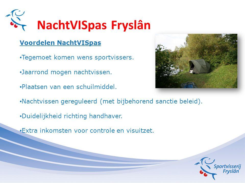 NachtVISpas Fryslân Voordelen NachtVISpas Tegemoet komen wens sportvissers.