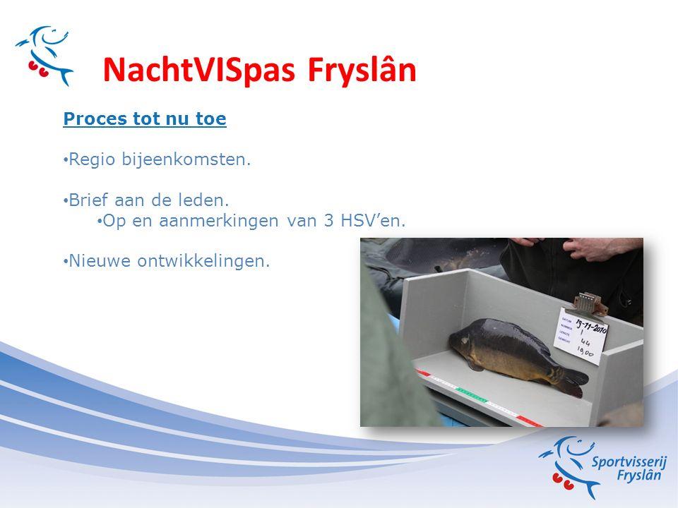 NachtVISpas Fryslân Proces tot nu toe Regio bijeenkomsten.