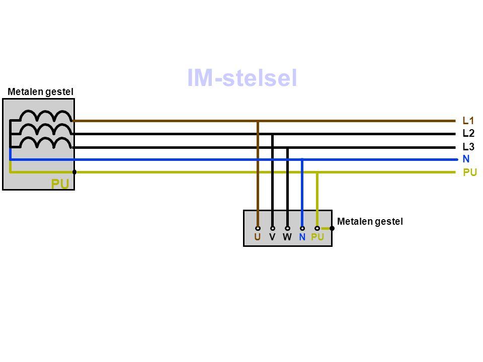 Metalen gestel UVWNPU L1 L2 L3 N PU Metalen gestel IM-stelsel