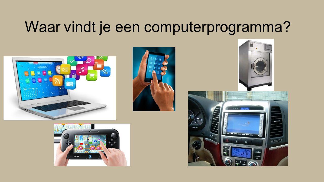 Hoe werkt een computerprogramma.Computers volgen opdrachten.