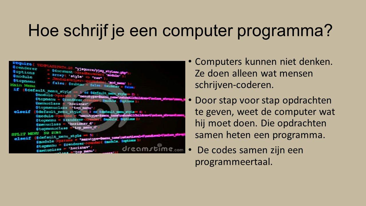 Wat is programmeren.Denken als een computer.