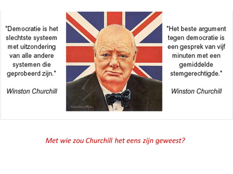 Met wie zou Churchill het eens zijn geweest