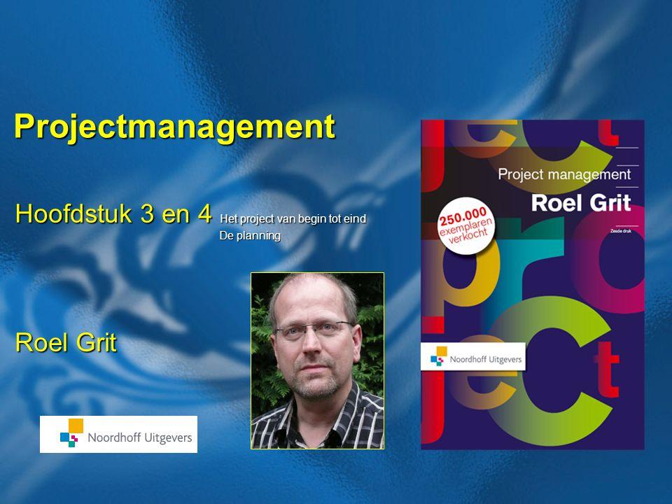 21 Boek: Projectmanagement Auteur: Roel Grit Verzamelen gegevens Opsporen activiteiten Schatting tijdsduur van elk Vaststellen afhankelijkheden Wie moet activiteit uitvoeren.