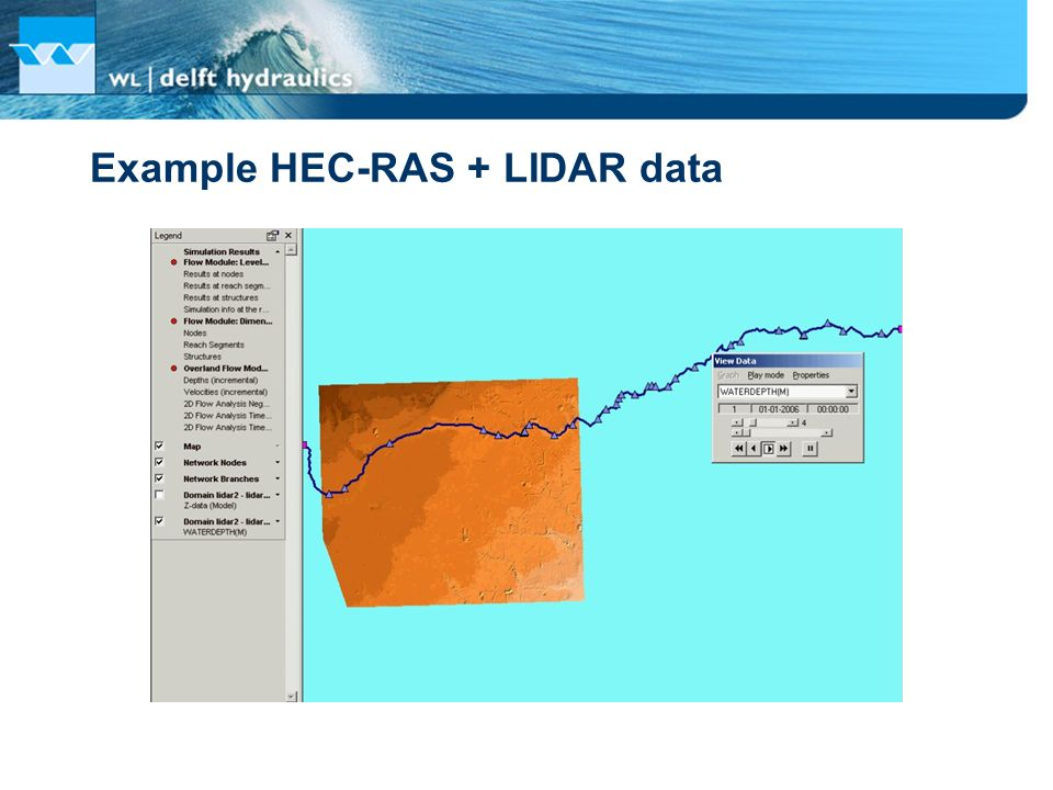 Example HEC-RAS + LIDAR data
