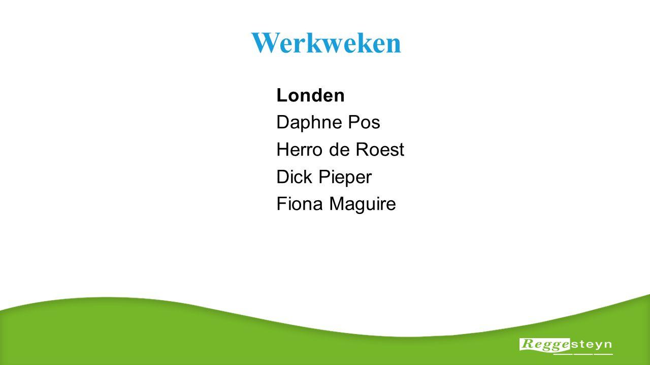 Werkweken Londen Daphne Pos Herro de Roest Dick Pieper Fiona Maguire