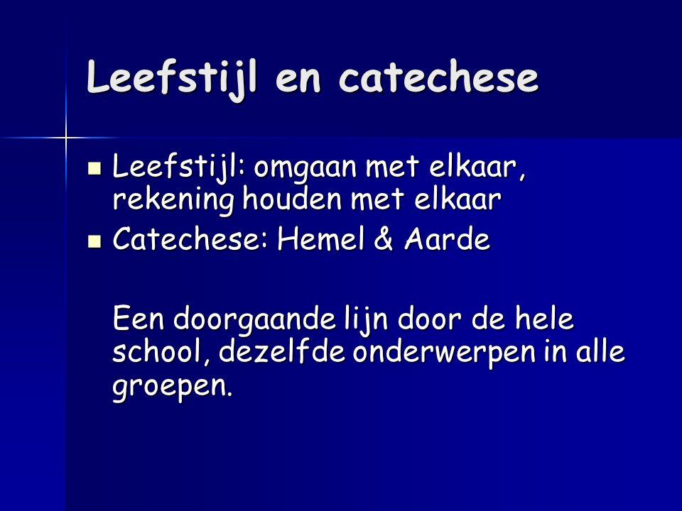 Leefstijl en catechese Leefstijl: omgaan met elkaar, rekening houden met elkaar Leefstijl: omgaan met elkaar, rekening houden met elkaar Catechese: He