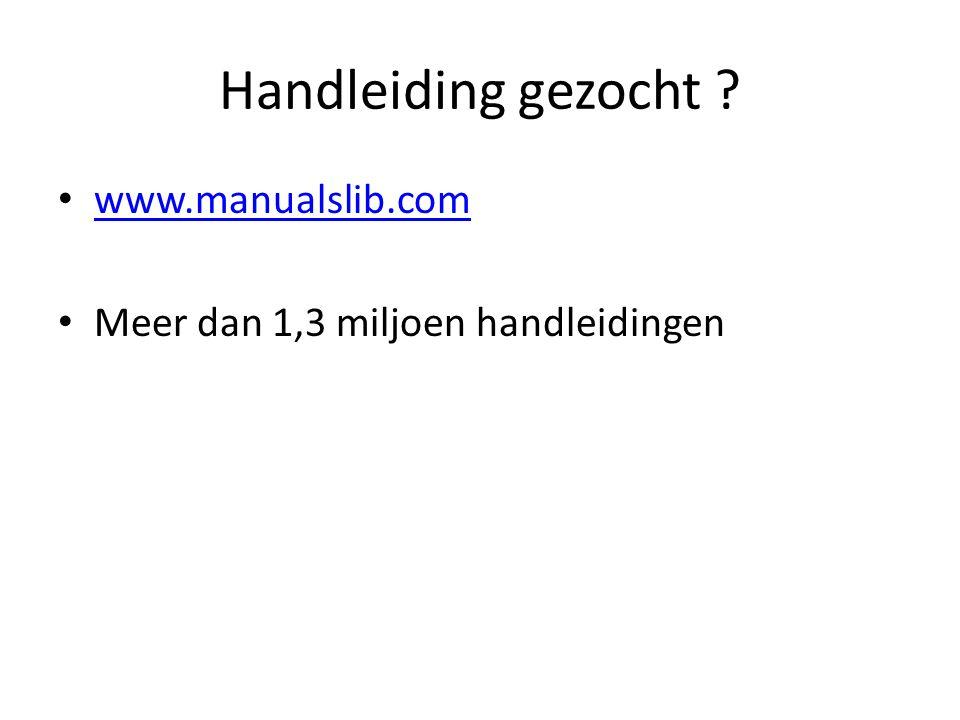 Handleiding gezocht www.manualslib.com Meer dan 1,3 miljoen handleidingen