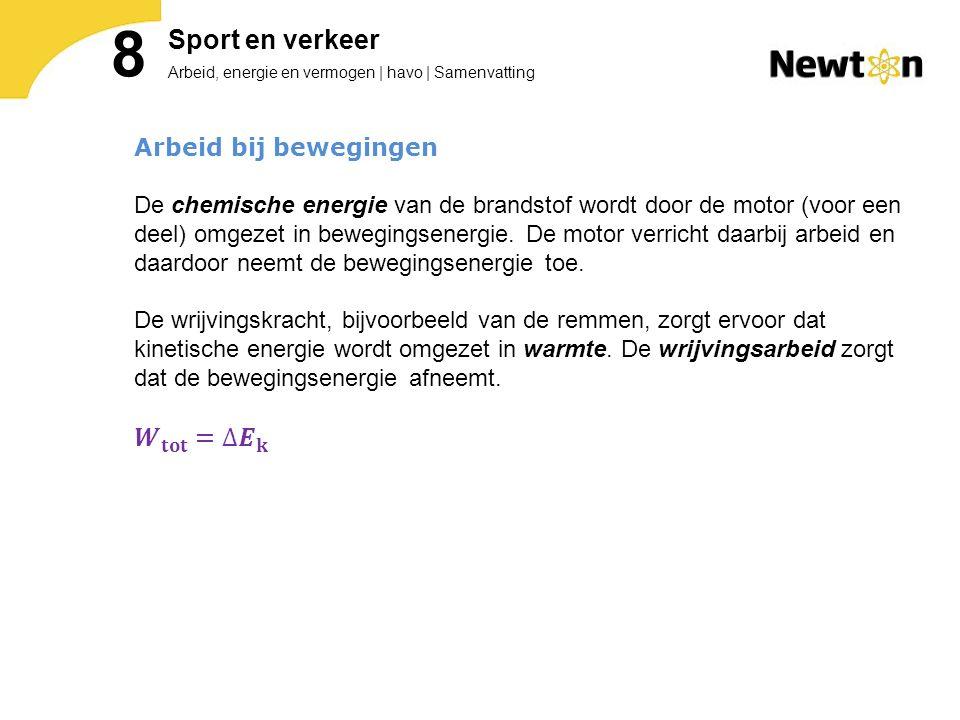 Arbeid, energie en vermogen | havo | Samenvatting 8 Sport en verkeer