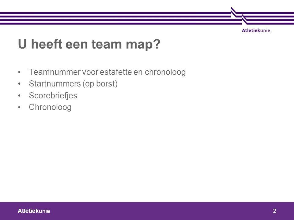 Atletiekunie2 U heeft een team map.