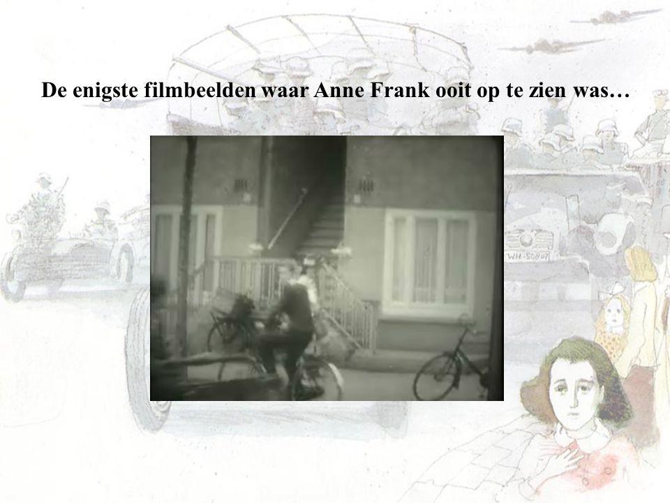 De enigste filmbeelden waar Anne Frank ooit op te zien was…