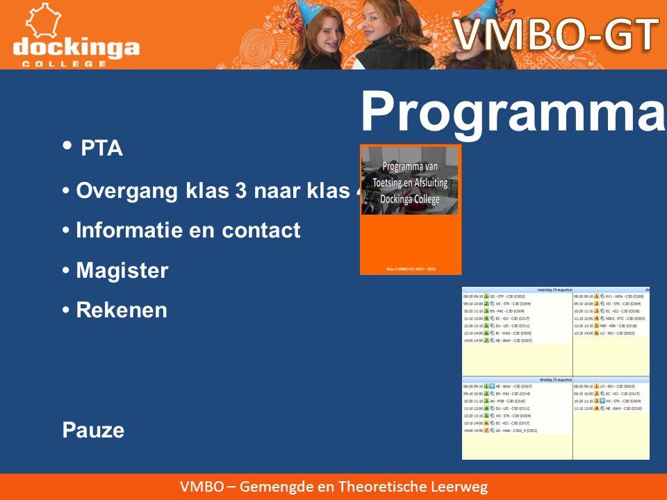 VMBO – Gemengde en Theoretische Leerweg Nieuwsbrieven 4 keer per jaar Verspreiding via mail en website.