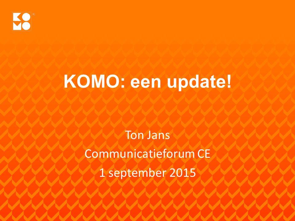 Ontwikkelingen BRL-en en kwaliteitsverklaringen KOMO versterkt positie privaat KOMO in bestekken KOMO en de WKb - instrument & risicomodel