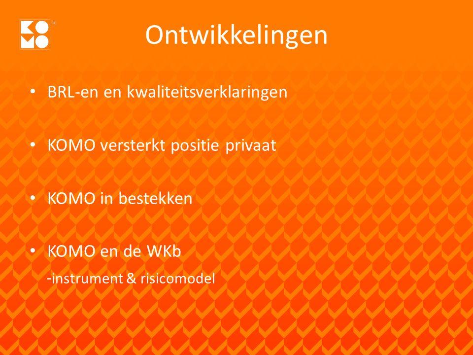KOMO Instrument Kwaliteitsborging Beschikbare deelinstrumenten, persoons-, proces- productcertificatie BRL 5019/5022 Verzekering + borging