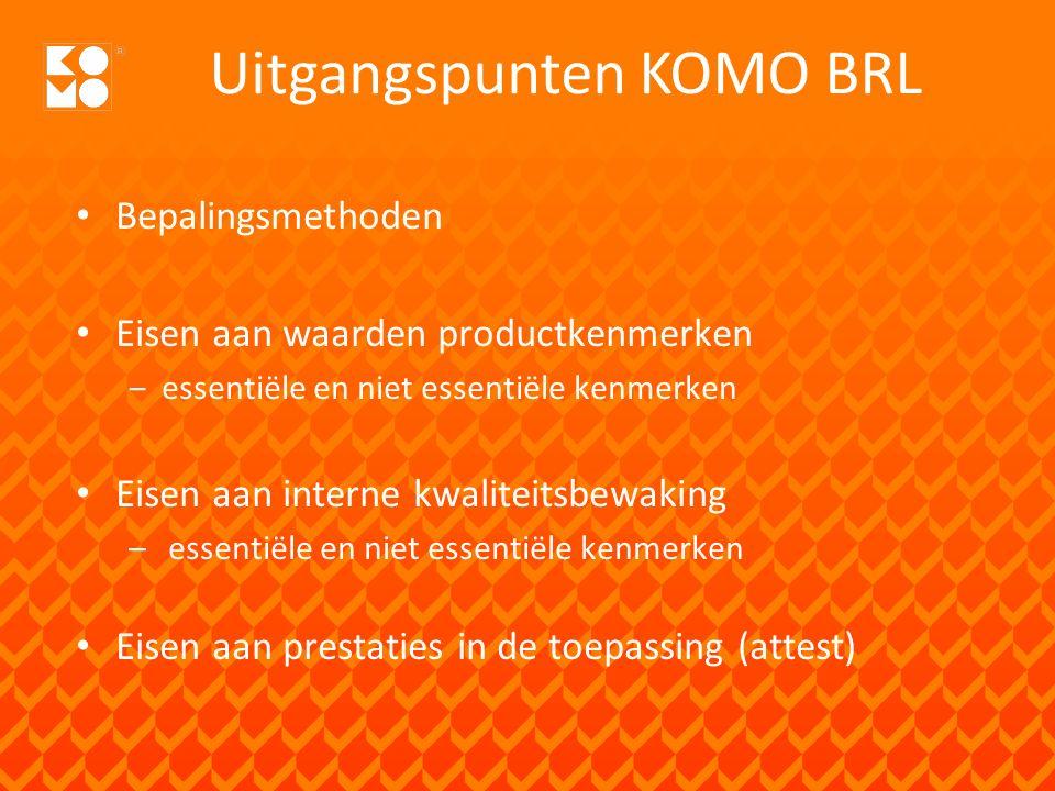 KOMO Instrument Kwaliteitsborging Verantwoording in KOMO-Bouwrapport Met daarin/daarbij Verklaring cf.