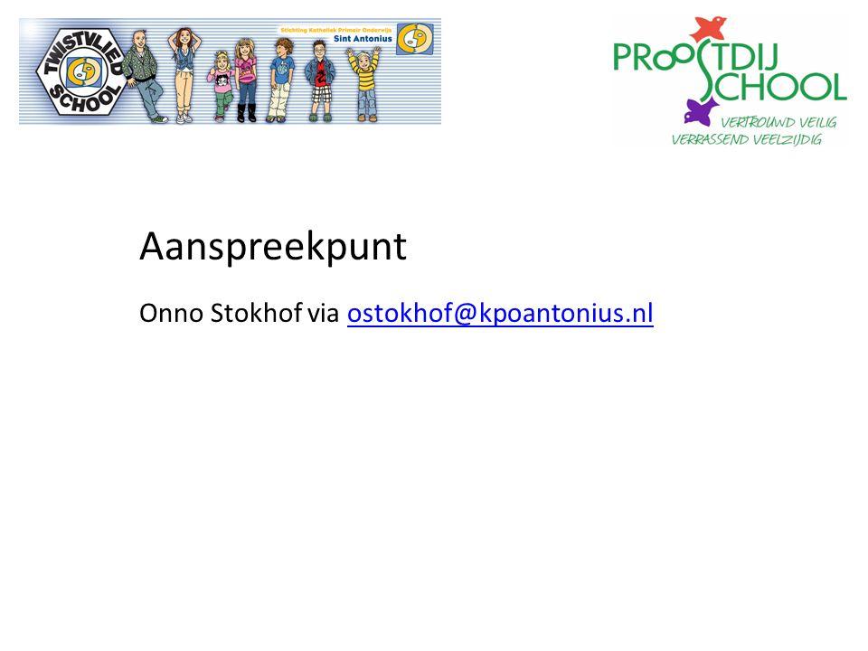Aanspreekpunt Onno Stokhof via ostokhof@kpoantonius.nlostokhof@kpoantonius.nl