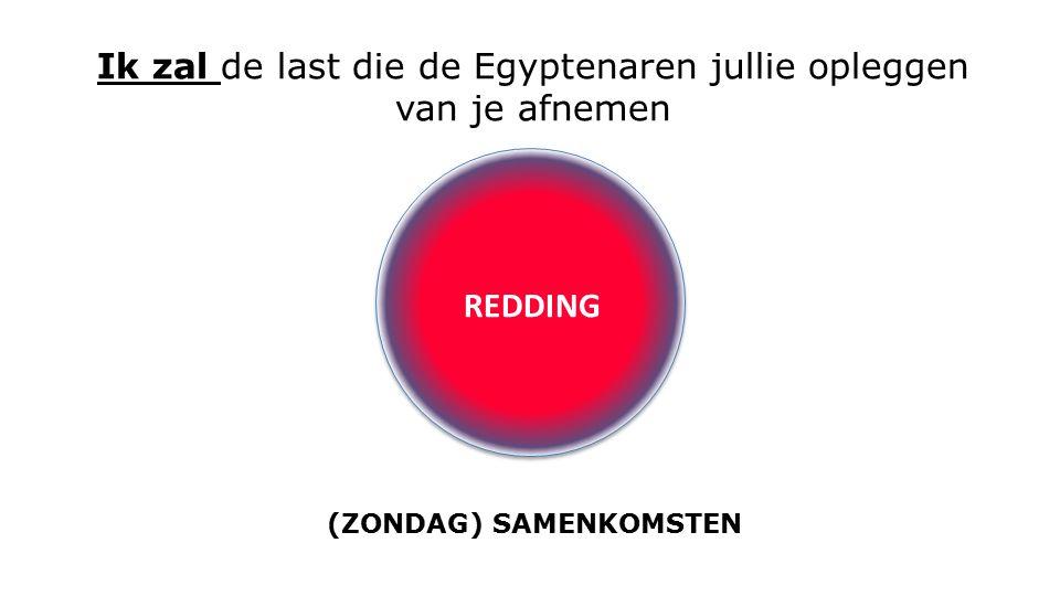 REDDING Ik zal de last die de Egyptenaren jullie opleggen van je afnemen (ZONDAG) SAMENKOMSTEN