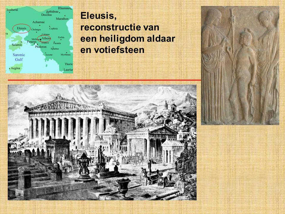 Eleusis, reconstructie van een heiligdom aldaar en votiefsteen