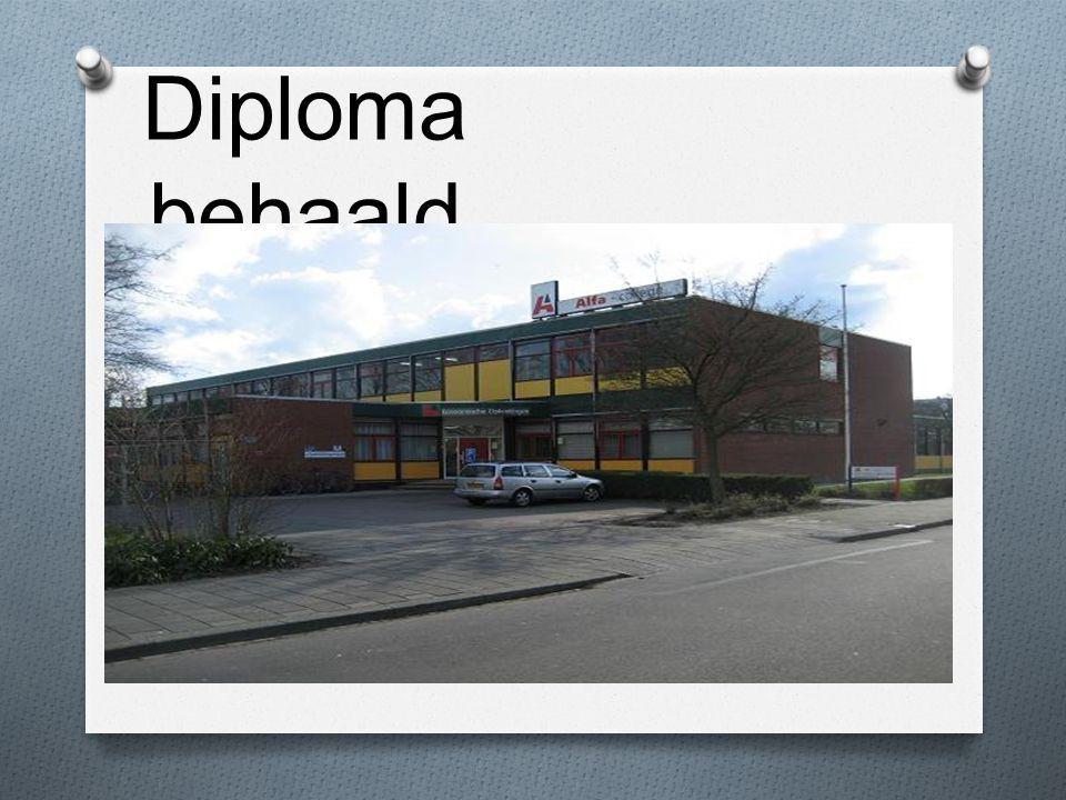 Diploma behaald