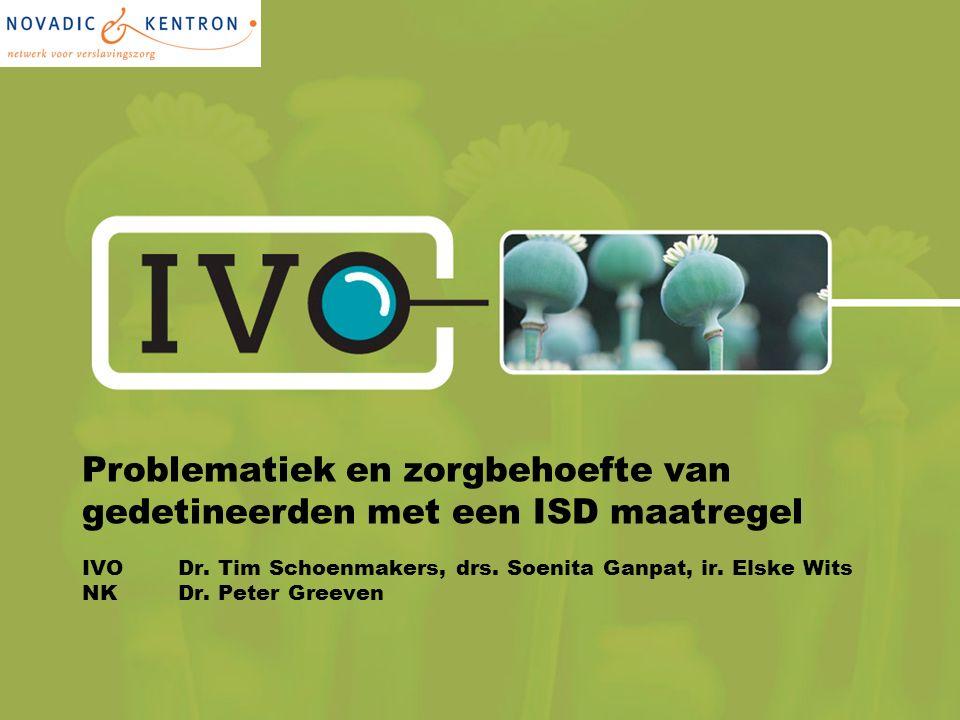 Problematiek en zorgbehoefte van gedetineerden met een ISD maatregel IVO Dr.