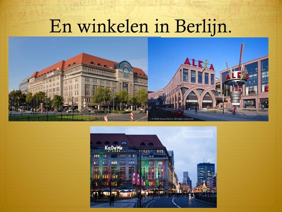 En winkelen in Berlijn.