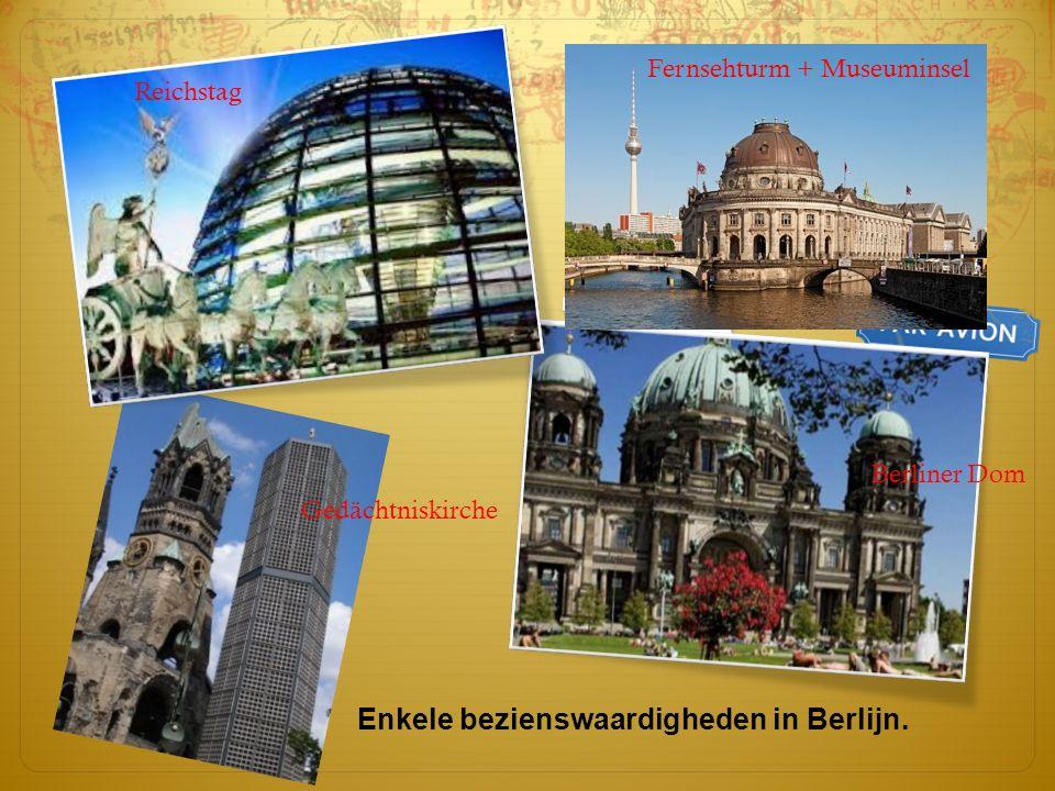 Enkele bezienswaardigheden in Berlijn.