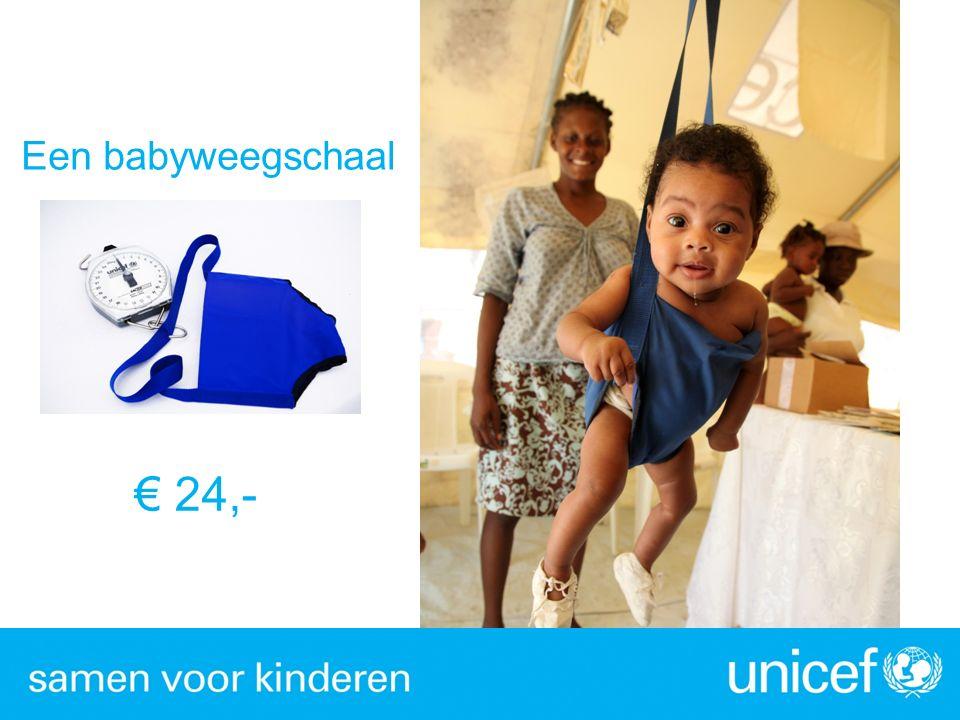 € 24,- Een babyweegschaal