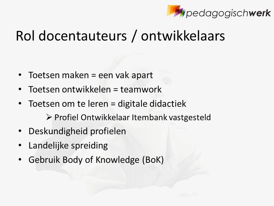 Kennisaspecten BoK Deskundigheid ontwikkelaars (4 keuzemogelijkheid )
