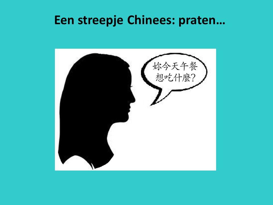 Een streepje Chinees: praten…