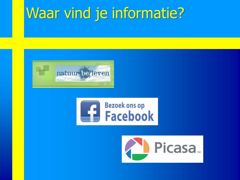 Waar vind je informatie?