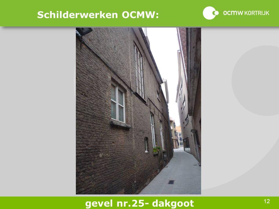 12 Schilderwerken OCMW: gevel nr.25- dakgoot